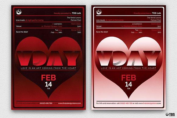 Valentines Day Flyer Template V11