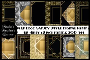 Art Deco Gatsby Style Digital Papers