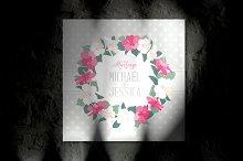 Romantic Marriage Invitation Cover