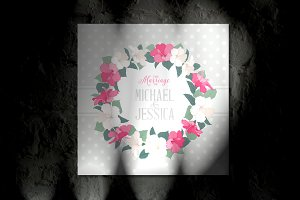 Romantic Marriage Invitation Cover