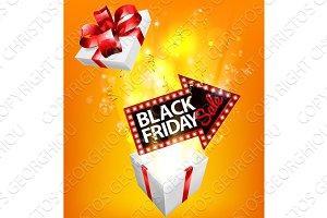 Black Friday Sale Exploding Gift Sign