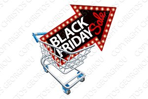 Shopping Trolley Black Friday Sale Sign