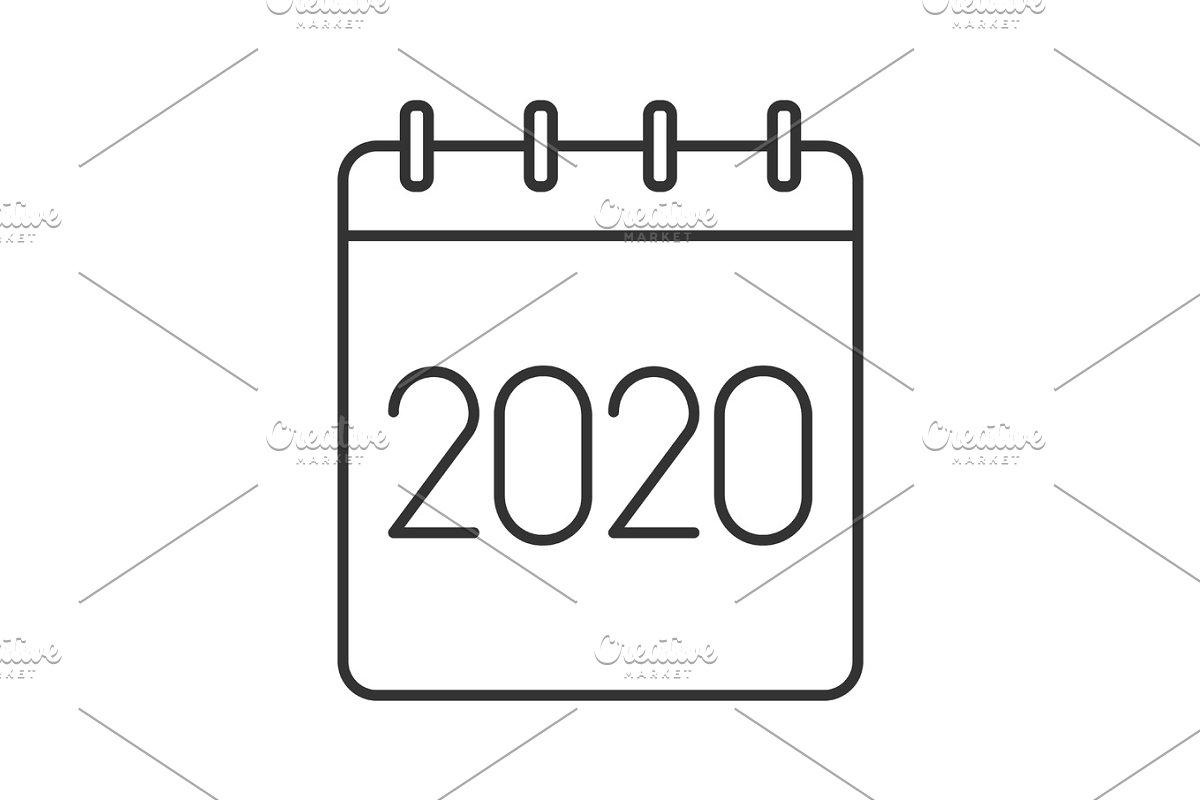 2020 Annual Calendar.2020 Annual Calendar Linear Icon