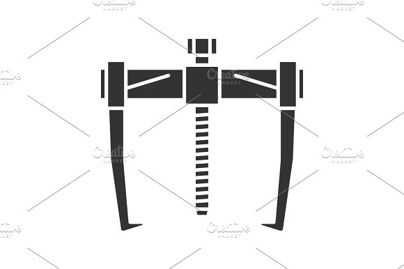 Bearing puller glyph icon