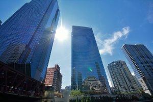 Skyscrapers in Chicago.