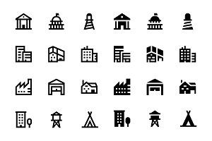 56 Buildings Icons
