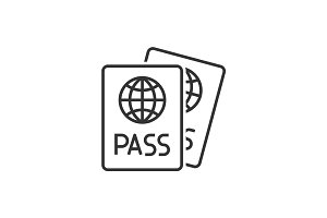 Passport line icon