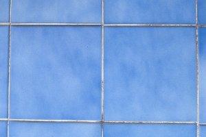 Blue wall tiles.