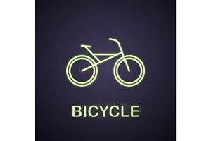 Bike neon light icon