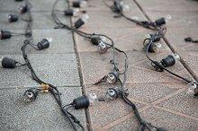 Bulbs and wiring.