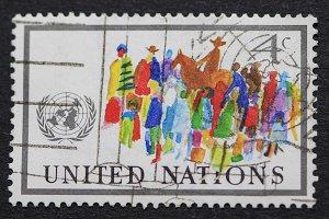 Colorful UN stamp