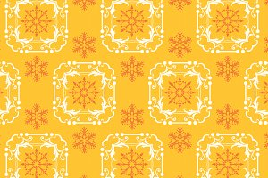 Christmas pattern, yellow