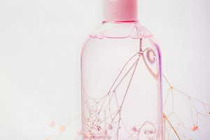 Cosmetic micellar water in bottle