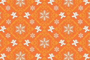 Christmas pattern, orange