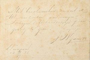Vintage letter of 1875