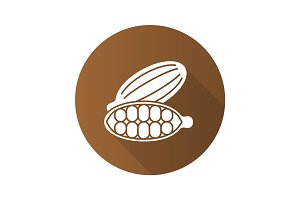 Cardamom flat design long shadow glyph icon