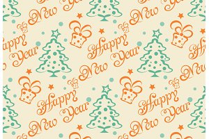 Christmas pattern, retro