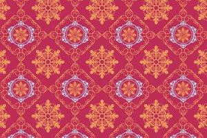 Christmas pattern, maroon