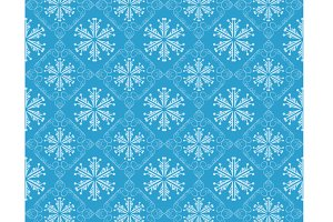 Christmas pattern, blue