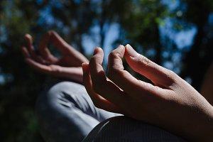 Close up of woman meditating