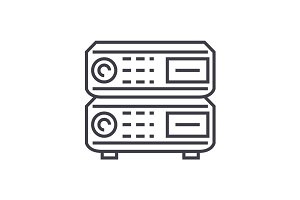 router vector line icon, sign, illustration on background, editable strokes