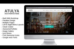 Atulya – Multipurpose Parallax HTML
