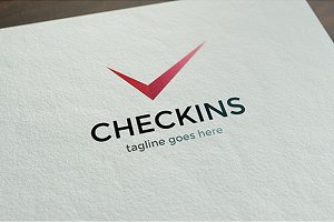 Checkins Logo Template