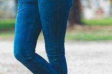 Legs of urban girl