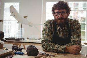 Portrait of confidence craftsman