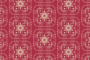 Christmas pattern, maroon