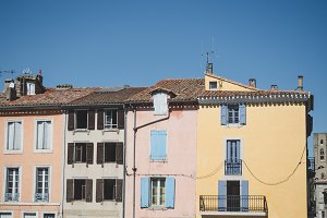 Colourful French houses
