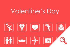 20 Valentine's Day simple icons
