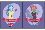Halloween Night Collection on Vector Illustration