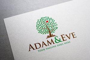 Adam and Eve Logo Template