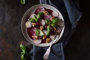 Beetroot carpaccio salad