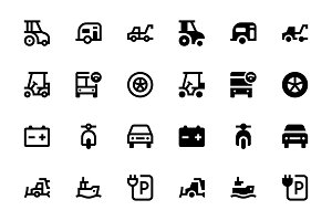 76 Transport Icons