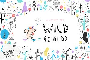 "Nursery Art ""Wild Child"""