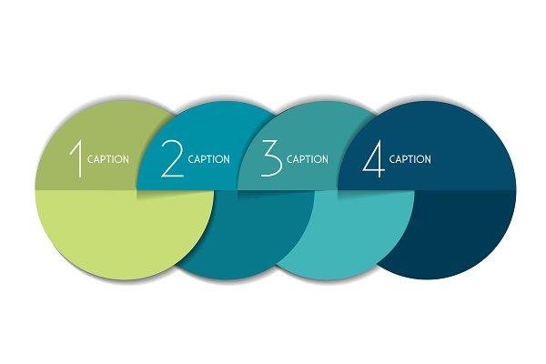 4 steps element bubble chart