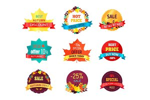 Autumn 2017 Sale Logo Icon Vector Illustration