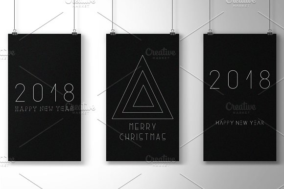 Minimalistic Merry Christmas cards in Objects - product preview 1
