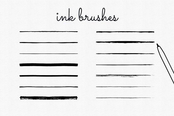 Handdrawn Ink Brushes Illustrator