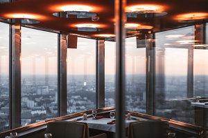Abstract restaurant interior