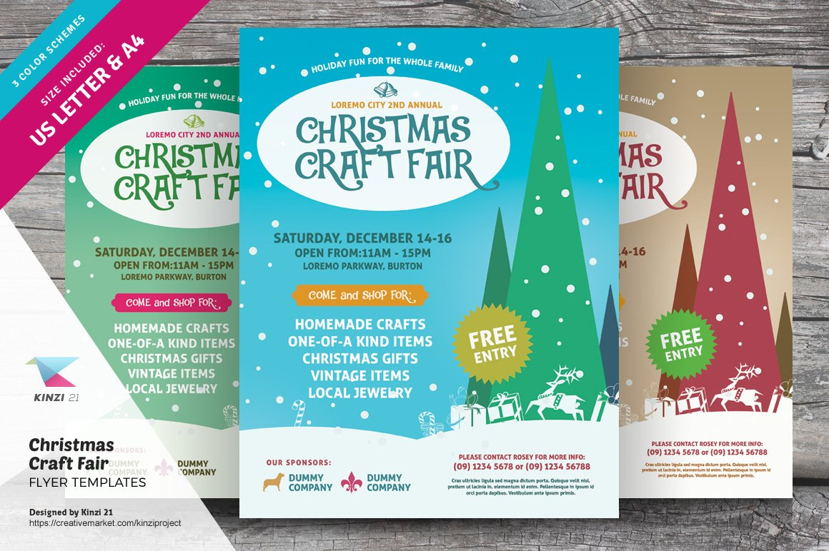 christmas raffle poster templates - christmas craft fair flyer templates flyer templates