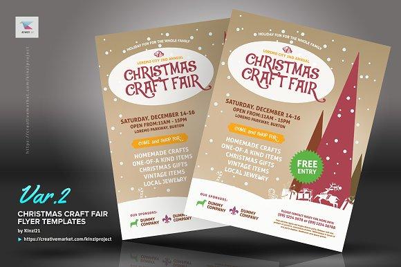 christmas craft fair flyer templates flyer templates creative market
