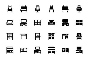 44 Furniture Icons