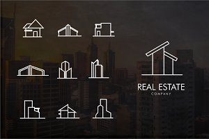 Real estate line Logo bundle