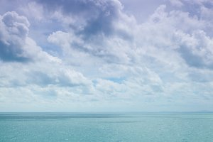 Clouds in sky and sea.