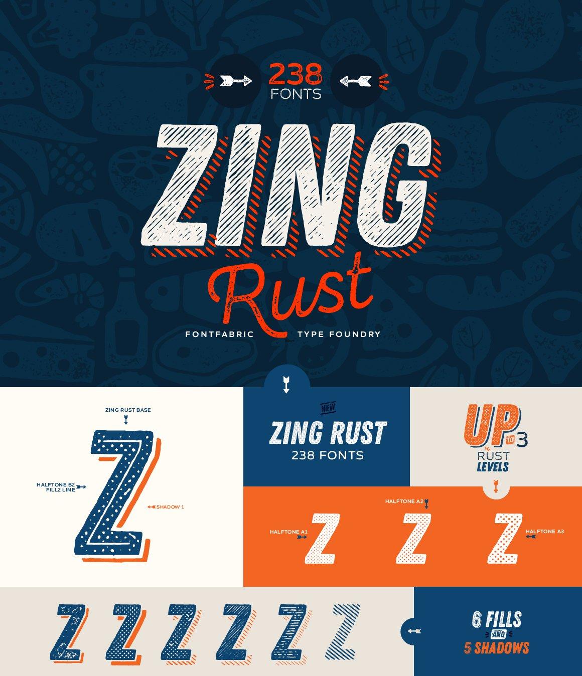 Zing Rust ~ Display Fonts ~ Creative Market