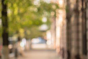 Blurred street view