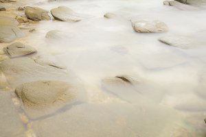 Stones in the river.